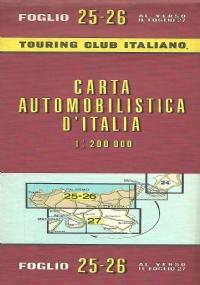 CARTA AUTOMOBILISTICA D' ITALIA FOGLIO 28 E 29