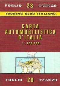 CARTA AUTOMOBILISTICA D' ITALIA FOGLIO 30