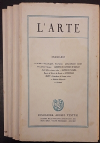 L'Arte. Rivista trimestrale di storia dell'arte medievale e moderna. Direttore Adolfo Venturi
