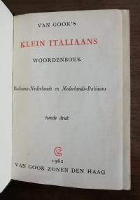 Klein italiaans woordenboek