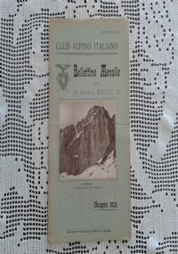 CLUB ALPINO ITALIANO Bollettino Mensile della sezione di Bergamo   Agosto 1921