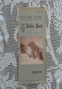 CLUB ALPINO ITALIANO Bollettino Mensile della sezione di Bergamo   Ottobre 1921