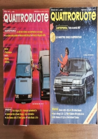 Rivista Quattroruote annata 1986 2 volumi