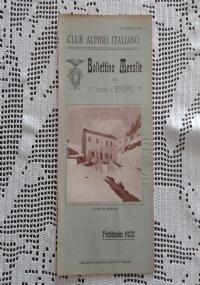 CLUB ALPINO ITALIANO Bollettino Mensile della sezione di Bergamo   Marzo 1922