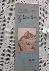 CLUB ALPINO ITALIANO Bollettino Mensile della sezione di Bergamo   Aprile 1922