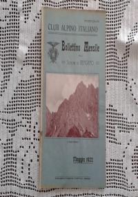 CLUB ALPINO ITALIANO Bollettino Mensile della sezione di Bergamo   Giugno 1922