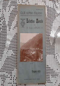 CLUB ALPINO ITALIANO Bollettino Mensile della sezione di Bergamo   Luglio 1922