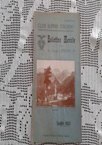 CLUB ALPINO ITALIANO Bollettino Mensile della sezione di Bergamo   Agosto 1922