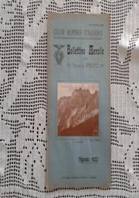 CLUB ALPINO ITALIANO Bollettino Mensile della sezione di Bergamo   Settembre 1922