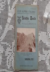 CLUB ALPINO ITALIANO Bollettino Mensile della sezione di Bergamo   Ottobre 1922