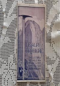 CLUB ALPINO ITALIANO LE ALPI OROBICHE Bollettino Mensile della sezione di Bergamo   Agosto 1925