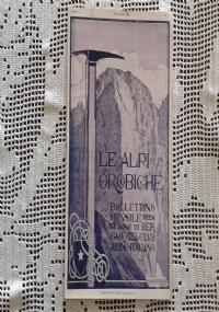 CLUB ALPINO ITALIANO LE ALPI OROBICHE Bollettino Mensile della sezione di Bergamo   Novembre 1925