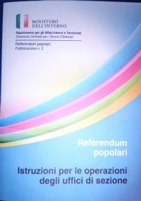 Referendum popolari. Istruzioni per le operazioni degli uffici di sezione