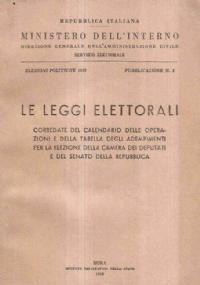 Le leggi elettorali - elezioni politiche 1958
