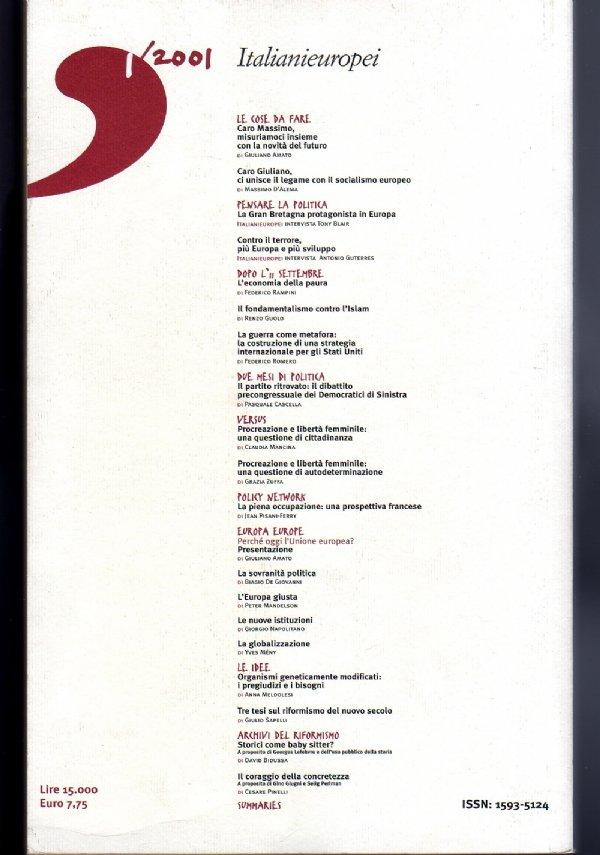 ITALIANIEUROPEI - Bimestrale del riformismo italiano - Anno 2001, numero 1 - [COME NUOVO]