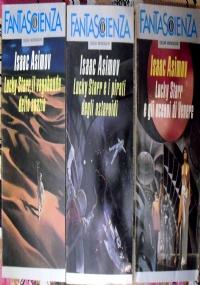Lucky Starr Il vagabondo dello spazio I pirati degli asteroidi Gli oceani di Venere fantascienza libri ragazzi META' SERIE COMPLETA