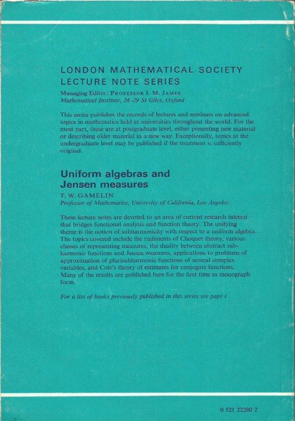 Uniform algebras and Jensen measures