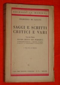 Saggi e scritti critici e vari, volume secondo