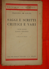 Saggi e scritti critici e vari, Volume terzo