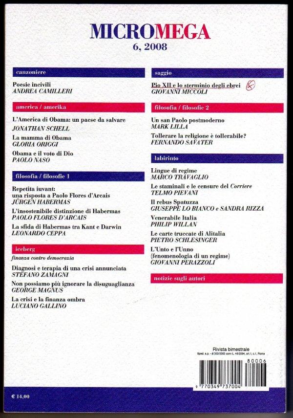 MicroMega n. 6/2008