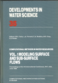 Computational methods in water resources : proceedings of the VII international conference, MIT, USA, june 1988. Vol. 2 : Numerical methods for transport and hydrologic processes