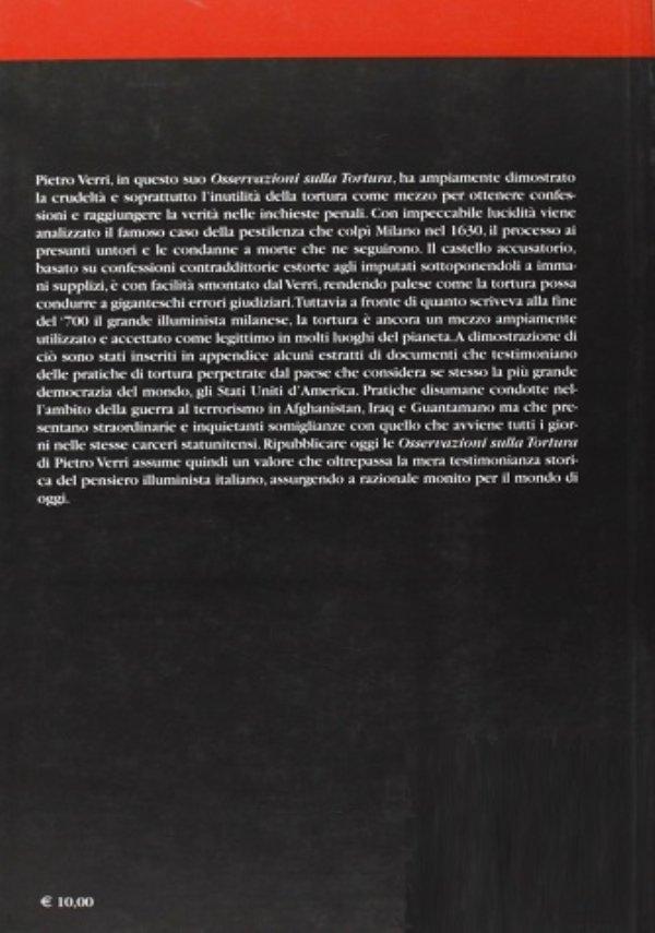 OSSERVAZIONI SULLA TORTURA - In appendice i documenti sul «caso Irak» - [COME NUOVO]