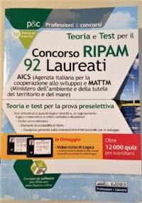Concorso RIPAM 92 Laureati AICS e Ministero Ambiente - Teoria e test per la preselezione