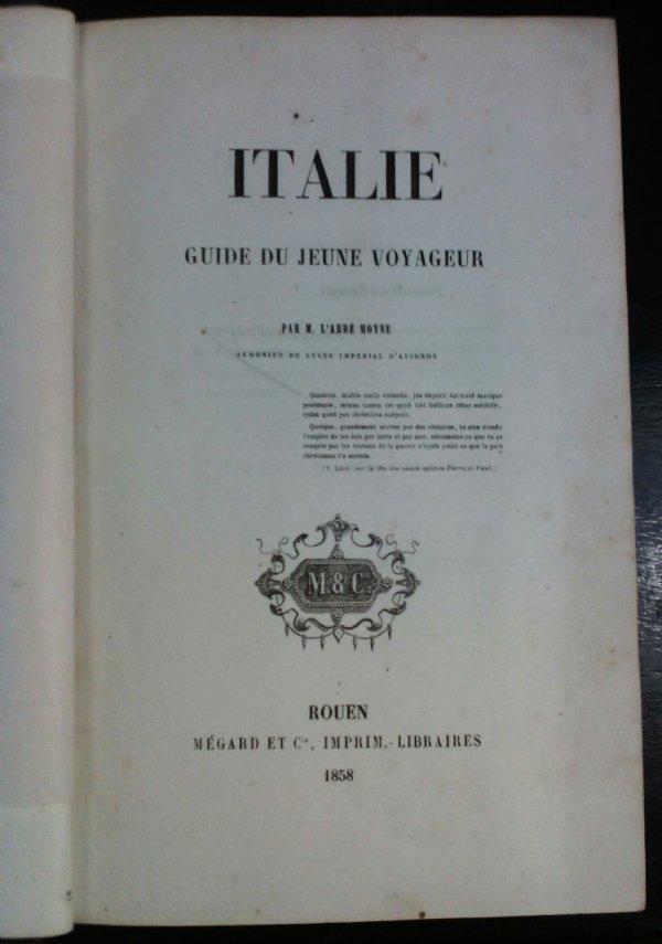 L'Italie, guide du jeune voyageur