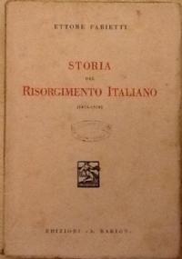 STORIA DEL RISORGIMENTO ITALIANO