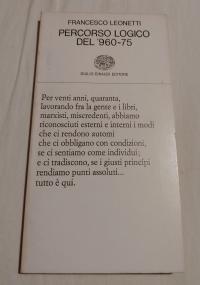 PERCORSO LOGICO DEL '960-75 - POEMA - Collezione di Poesia Einaudi, 136