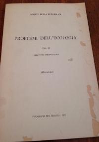 problemi dell'ecologia vol. III  riassunti in lingue straniere