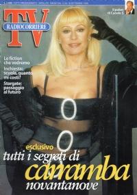 RADIOCORRIERE TV anno 1999 numero 6 Victoria Silvstedt