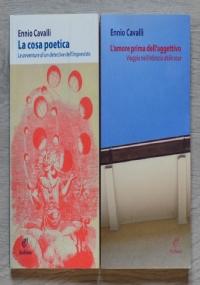 Lotto 2 libri Ennio Cavalli: La cosa poetica, L'amore prima dell'aggettivo