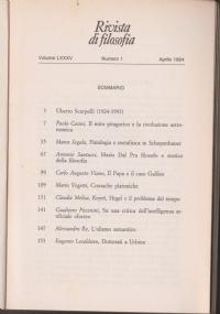 Dell'idea di legge naturale nella scienza e nella filosofia contemporanea