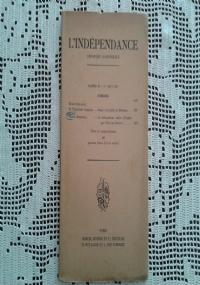 L' INDEPENDANCE - N. XXXI - 1 JUIN 1912