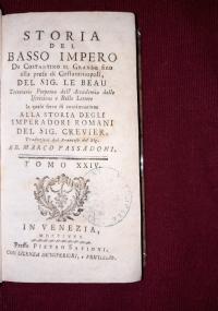 STORIA DEL BASSO IMPERO