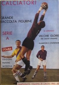 Ristampa album Calciatori Panini Serie A 1961-62
