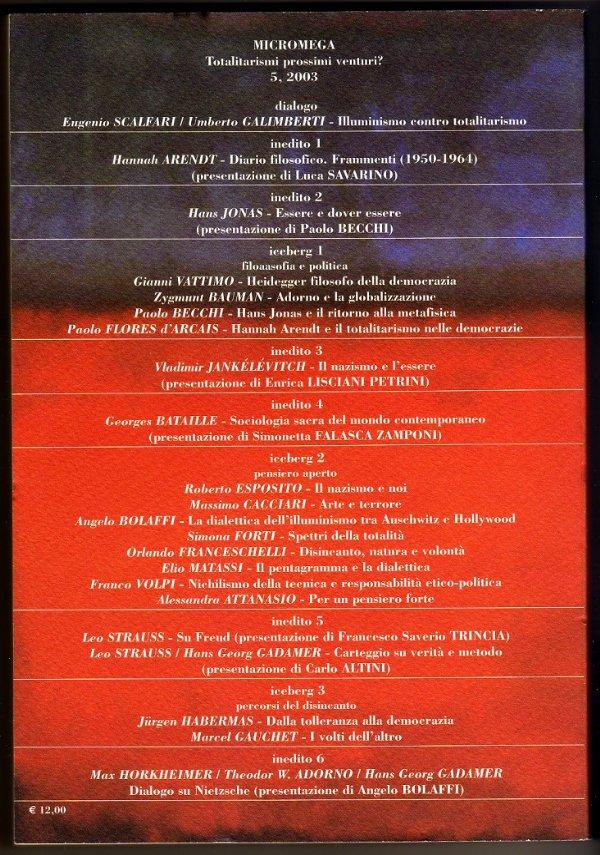 MicroMega n. 5/2003 - ALMANACCO DI FILOSOFIA - [NUOVO]