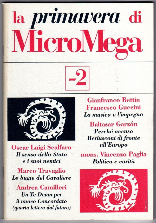 la PRIMAVERA di MicroMega n. 4/2001 (-2) - [COME NUOVO]