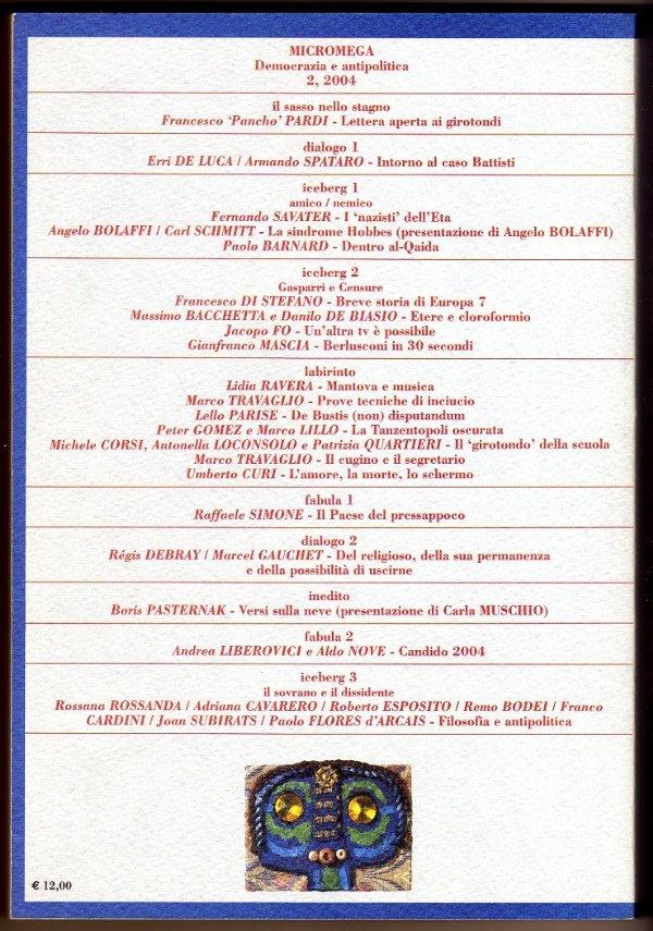 MicroMega n. 2/2004 - DEMOCRAZIA E ANTIPOLITICA - [NUOVO]