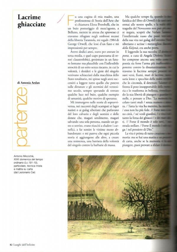 LUOGHI DELL'INFINITO n. 131 (Luglio/Agosto 2009) - Dall'alluvione di Firenze al terremoto in Abruzzo: MISSIONE RESTAURO