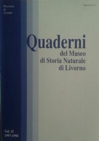 Quaderni del Museo di Storia Naturale di Livorno - Vol. 3 - 1982
