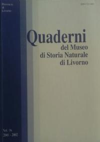 Quaderni del Museo di Storia Naturale di Livorno - Vol. 15 - 1997-1998