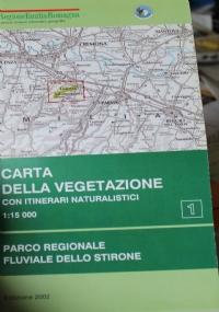 Carta della vegetazione del Parco regionale dell'alto Appennino reggiano (foglio est e foglio ovest). Scala 1:25.000. Con itinerari naturalistici
