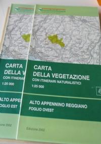 Carta della vegetazione del Parco regionale dei Sassi di Roccalamatina. Scala 1:10.000. Con itinerari naturalistici