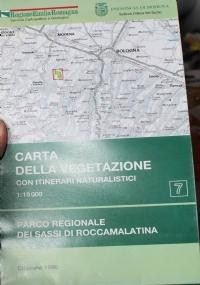 Carta della vegetazione del Parco regionale Monte Sole. Contrafforte pliocenico. Scala 1:25.000. Con itinerari naturalistici