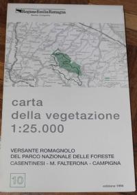 Carta della vegetazione del Parco regionale fluviale dello Stirone. Scala 1:15.000. Con itinerari naturalistici