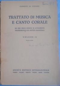 Trattato di musica e canto corale. Volume III Ad uso delle Scuole di Avviamento Professionale ed Istituti Magistrali