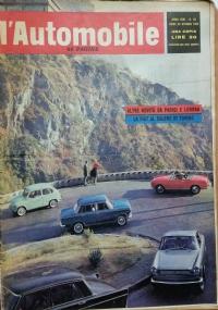 L'automobile , anno XVIII     n.41   14 ottobre 1962  Tutto sul salone dai nostri inviati a Parigi