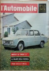 L'automobile , anno XVIII n.20 20 maggio   1962